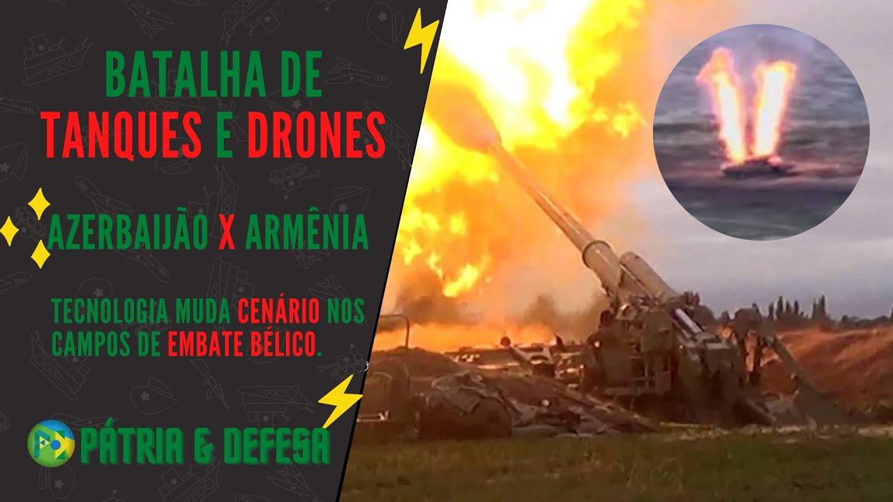 Drones Destroem Tanques nas Batalhas entre Azerbaijão e Armênia! Será o Fim dos Blindados Pesados?
