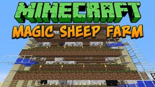Minecraft: Magic Sheep Farm Tutorial