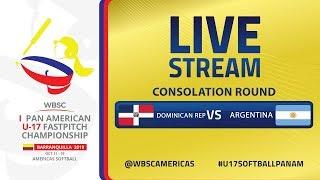 Dominicana v Argentina - I U-17 Women's Softball Pan American Championship - Consolation Round