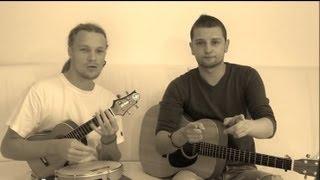 """STROMAE - PAPAOUTAI acoustic cover Ukulélé Guitar duo - Benoît Hetman & MAKI """"formidable"""" live"""