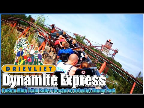 🚂Dynamite Express🎢Roller Coaster onride POV Drievliet Theme Park The Hague Netherlands 2012