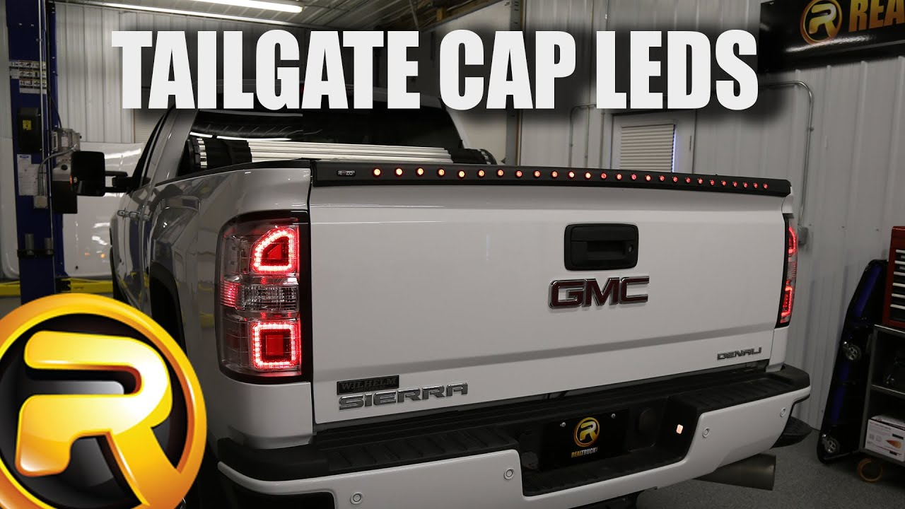 anzo led tailgate cap on a 2015 gmc sierra 2500 [ 1280 x 720 Pixel ]