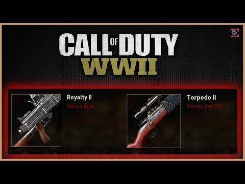 """FREE HEROIC BREN """"Royalty II"""" & HEROIC KAR98K """"Torpedo II""""  in Call of Duty: WW2"""
