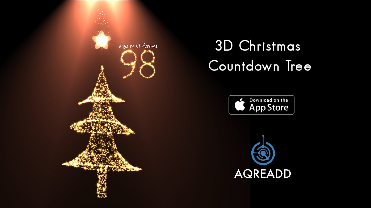 3D Christmas Countdown Tree For IPhone 6 Plus 5s IPad