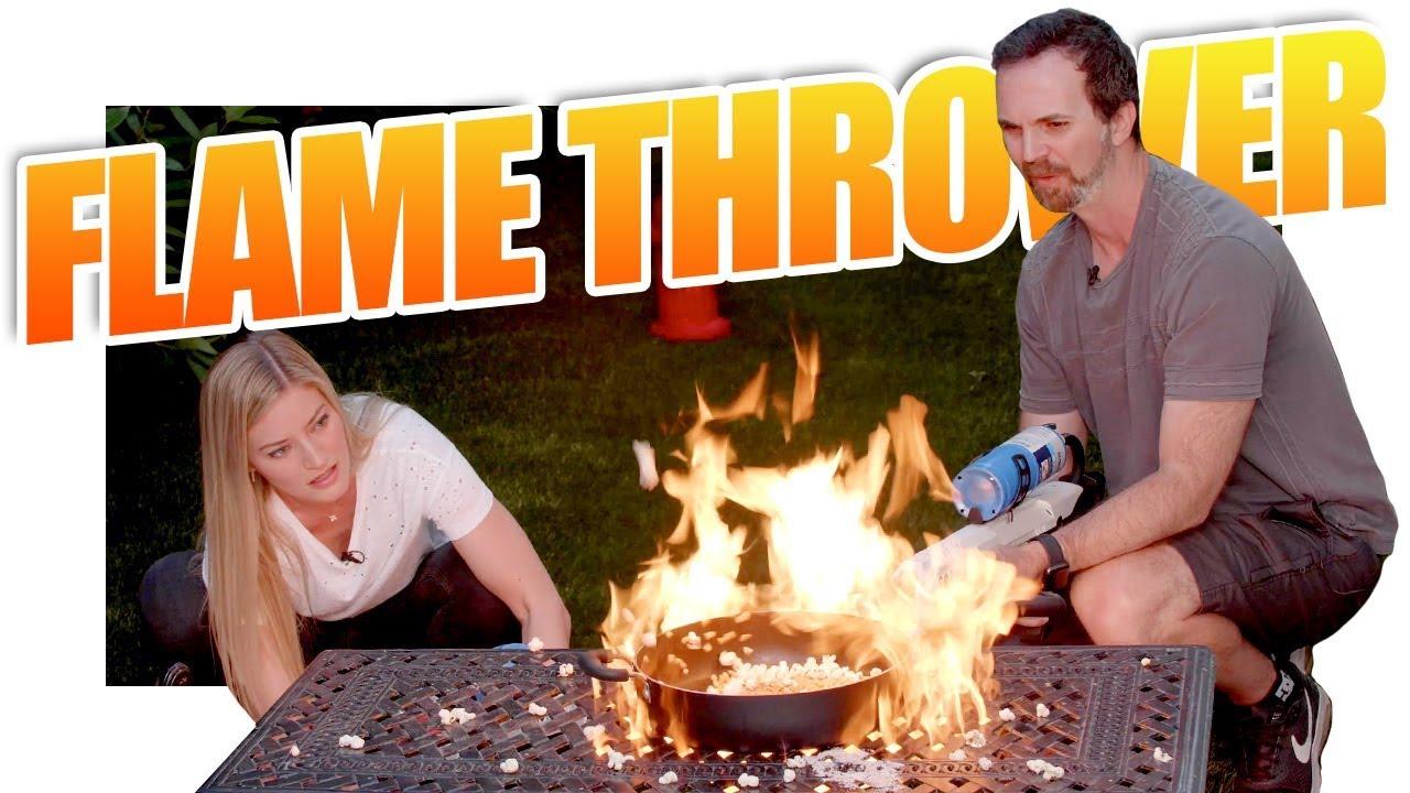 Flamethrower Cooking!!