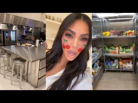 Kim Kardashian Gives a Tour of her Fridge and Kitchen
