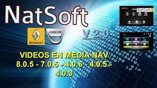Videos en Media Nav 9.1.1-8.0.5 - 7.0.5 - 4.0.6 - 4.0.5 - 4.0.3 NatSoft V2.0