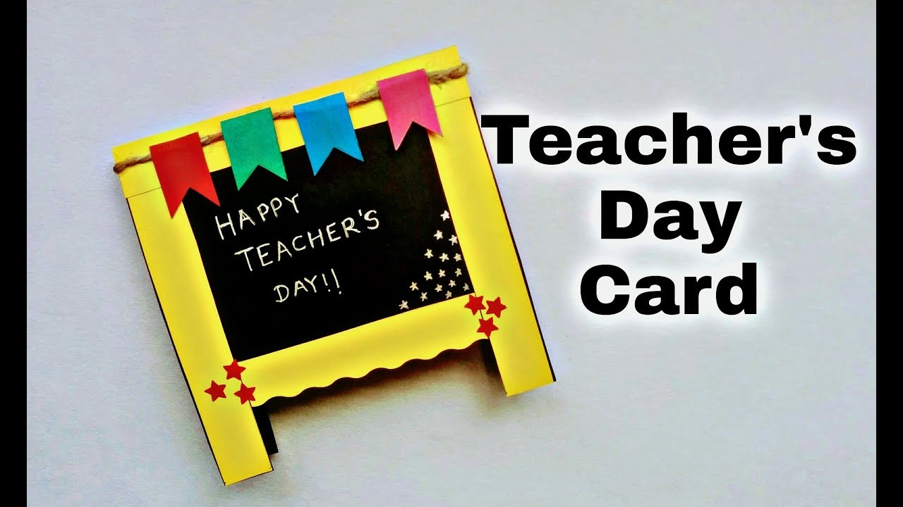Teachers Day Card Idea Handmade Greeting Card For Teacher Youtube