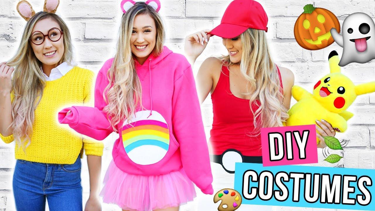 sc 1 st  YouTube & DIY HALLOWEEN COSTUMES FOR TEENS 2016 | LaurDIY - YouTube