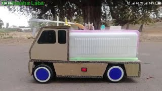 How to make RC Fire Truck from Cardboard at Home #diy