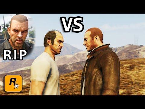 GTA V - Niko vs Trevor [Johnny's Death Revenge] Part 1