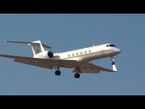 Private Gulfstream Aerospace G V Gulfstream V  HZ-SK4 Landing Malaga LEMG
