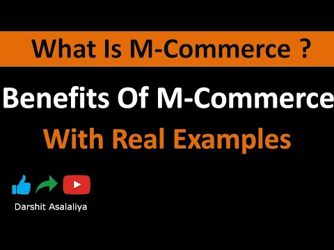 What is M-COMMERCE (mobile commerce) || benefits of M-COMMERCE in(hindi)