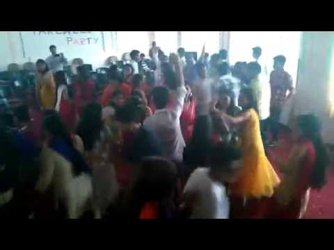 s s j campus maths department ,farewell party dance.
