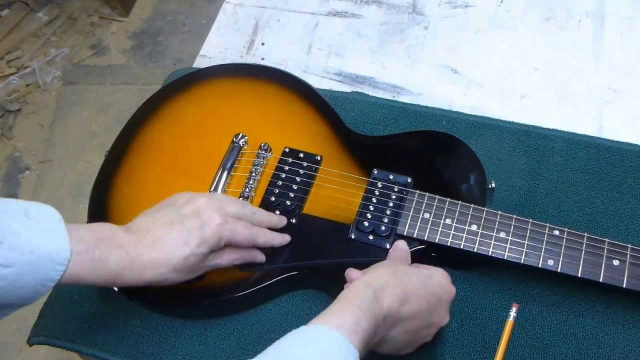 Gibson Les Paul Studio Wiring Diagram Raspberry Pi Epiphone Special 2 Pick Guard Install - Youtube