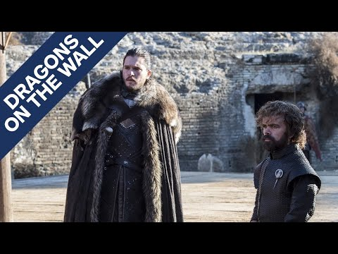 """Game of Thrones: """"The Dragon and the Wolf"""" - Dragons on the Wall"""