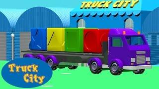 通过汽车学习色彩和形状 - 汽车城 🚗 儿童卡通片
