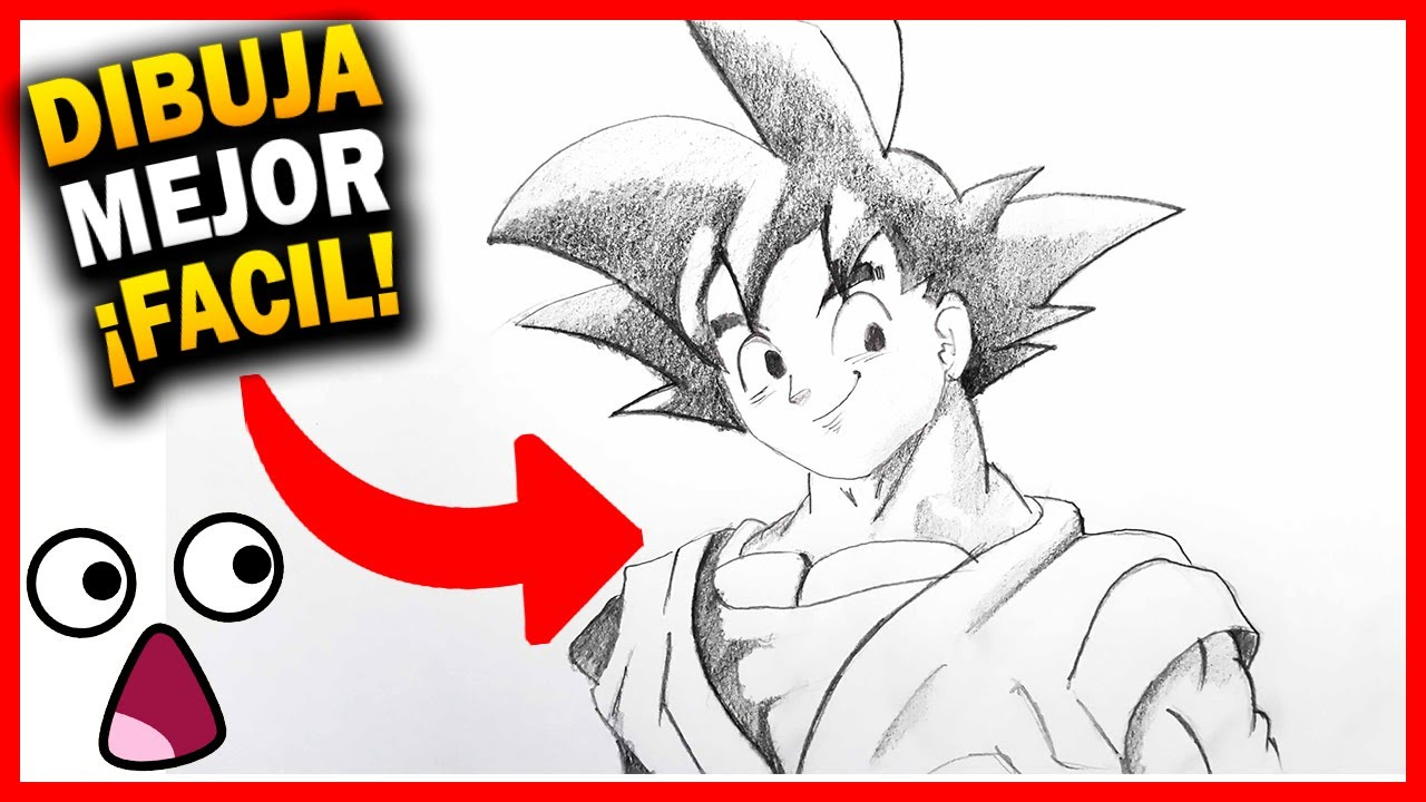 Como Dibujar A Goku Paso A Paso Facil How To Draw Goku Dragon