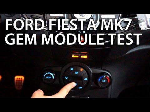 Ford Fiesta MK7 GEM Module Test (equipment Communication Troubleshooting)