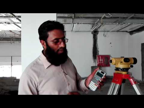 Surveyor Nadeem Muhammad level machine BS setup
