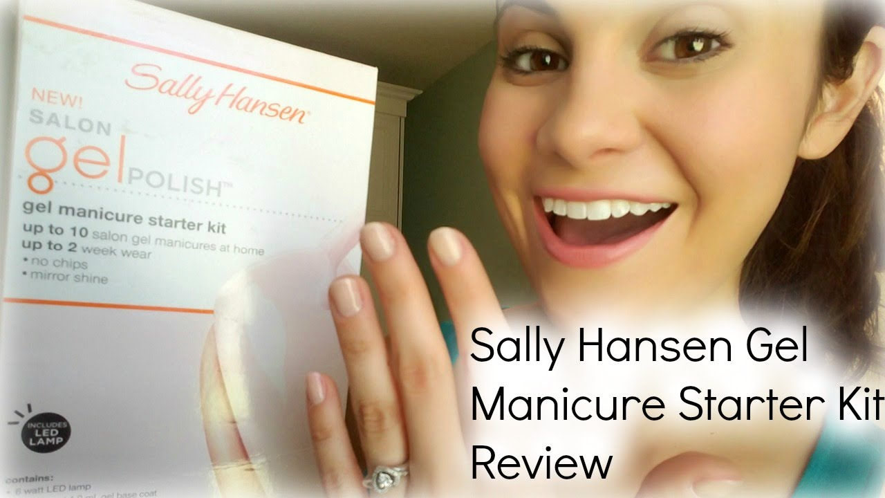 Sally Hansen Gel Manicure Starter Kit Review - YouTube