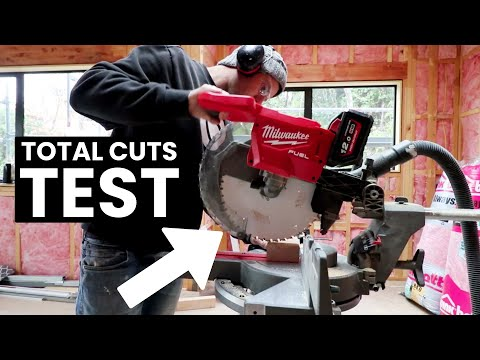 """A Real Life """"Total Cuts"""" test - Milwaukee 12inch M18FMS305 // NZ Builder"""