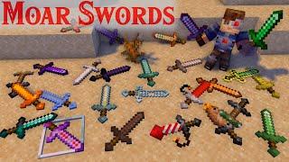 New Sounds and Balance! Moar Swords Update V1.3.1. Minecraft 1.16 Survival Datapack. Full Showcase!