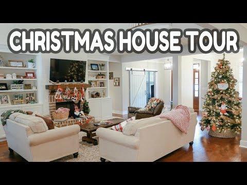 🎄CHRISTMAS HOUSE TOUR 2018 // CHRISTMAS DECORATE WITH ME // FARMHOUSE CHRISTMAS