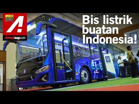 Bis Listrik Canggih Merk MAB (Mobil Anak Bangsa) Di GIICOMVEC 2018
