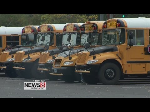 4 school buses struck by projectile while leaving Daniel Hand High School, 2 students injured