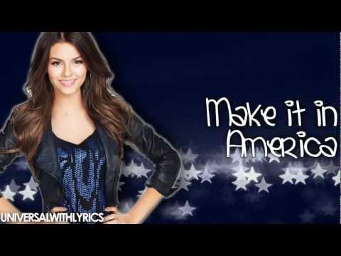 Victoria Justice - Make It In America (Lyrics Video) HD