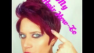 How I Do My Hair - Pixie Faux Hawk Thumbnail