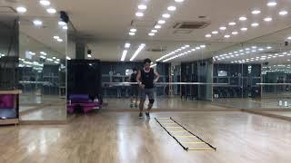 테니스 스텝 연습2주차 스텝퍼 잔발연습
