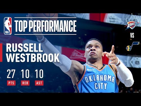 Russell Westbrook Gets His 90th Career Triple-Double vs. Jazz | December 23, 2017