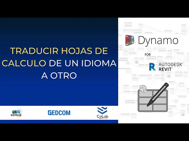 Traducir Excel de un idioma a otro usando Dynamo | Demostración