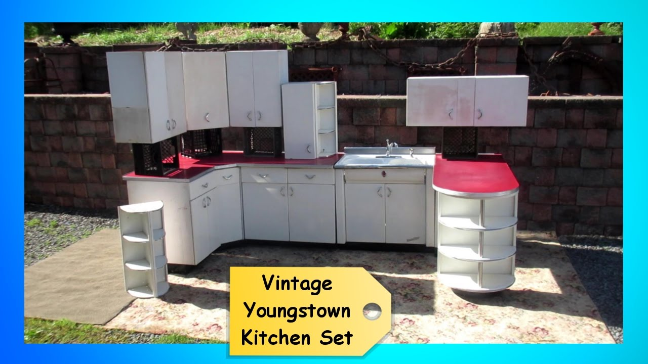 Vintage 1950s Retro Youngstown Kitchen Set Cabinets Cupboards