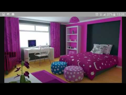 chambre pour ado tr s classe youtube. Black Bedroom Furniture Sets. Home Design Ideas