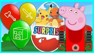 Свинка Пеппа - Роботы - Киндер сюрприз - Майнкрафт - Супергерои - Покемоны. Мультик для детей