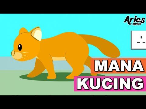 Alif & Mimi - Mana Kucing (Animasi 2D) Lagu Kanak Kanak