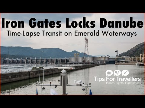 Experience a thrilling transit through the Iron Gates Locks on Danube River (Time-lapse video)