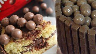 Kitkat & Malteser Marble Cake | Craving For Baking
