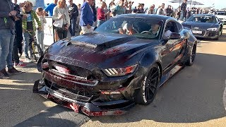 Alphamale Alpha ONE Widebody Ford Mustang GT - BURNOUT & ACCELERATIONS!