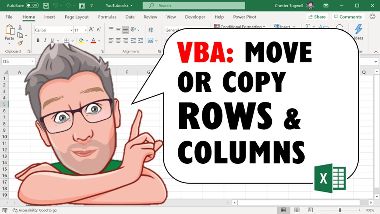 Move or Copy Rows & Columns Using Excel VBA, Including Move to Another  Sheet and Move to End of Data