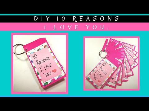 Valentine's Day Special : How to make 10 reasons I love You mini gift for your boyfriend,girlfriend.