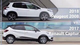 2018 Peugeot 2008 vs 2017 Renault Captur (technical comparison)