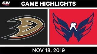 NHL Highlights   Ducks vs Capitals - Nov. 18, 2019