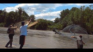 Рыбалка ТРЕМЯ КАСТИНГОВЫМИ сетями Вытащил со дна ПАУКА