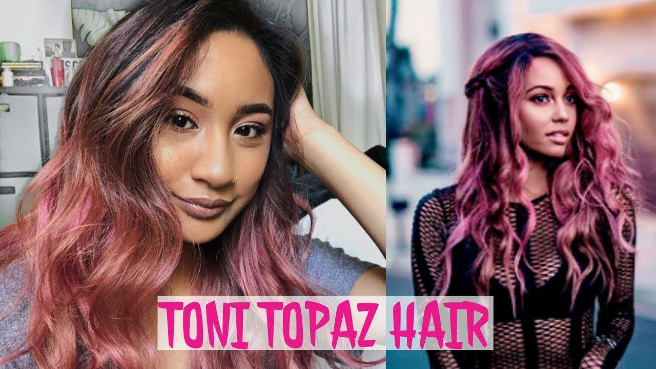 How I Dyed My Hair Like Toni Topaz Riverdale Pink Hair Youtube