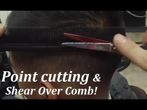 How To Trim Mens Long Hair With Scissors : How to cut mens hair ✂ scissor haircut point cutting