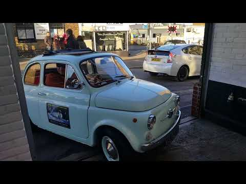 Electric Fiat 500 driven by Edd China